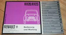 !! Original Betriebsanleitung / Wartung Renault 4, ca. 1960, Sprache deutsch !!