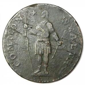 1788 Massachusetts Cent Colonial Copper Coin - VF Details - Rare!