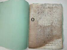 Antico documento manoscritto 21 giugno 1614 Catino 98 pagine