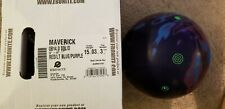 "NIB 15 Ebonite Maverick Bowling Ball with 3-4"" pin and 3.25 oz top weight"