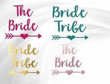BRIDE TRIBE, THE BRIDE, HEN DO,CUSTOM, IRON ON, TRANSFER, LADIES, WEDDING, HTV