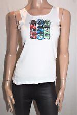 NEON Brand White SKATEBLACK Singlet Top Size 12-14 BNWT #SA71