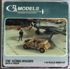 DA MODELS DIORAMA ACCESSORY - VW. KUBELWAGEN WITH A FIGURE - 1/48 RESIN KIT