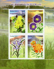 Uzbekistan 2018 Mountain Flowers 4v M/S Plants Nature Stamps