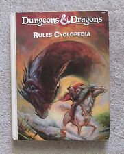dungeons & dragons         rules cyclopedia     book  exc  ln