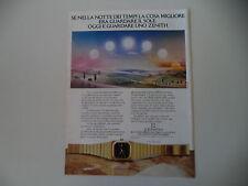 advertising Pubblicità 1978 OROLOGIO ZENITH PORT ROYAL QUARTZ