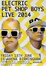 PET SHOP BOYS 2014 TOUR FLYER - ELECTRIC LIVE UK CONCERT - GENUINE MUSIC PROMO