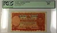 (1942) No Date Australia Commonwealth Bank 10S Note R13 SCWPM# 25b PCGS VF-20