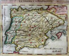 SPANIEN ESPAÑA MALLORCA MENORCA IBIZA PORTUGAL KUPFERSTICH KARTE CHEVIGNY 1782