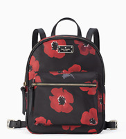 Kate Spade Wilson Road Poppy Small Bradley Backpack Black Multi