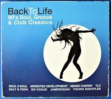 BACK TO LIFE 90's SOUL, GROOVE & CLUB CLASSICS 3 x CD. UK DISPATCH.