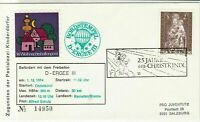 Austria 1974 Christmas Child in Light Slogan Balloon Post Stamps Cover Ref 28011