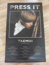 TAEMIN (SHINee) - PRESS IT (TYPE A) [ORIGINAL POSTER] *NEW* K-POP