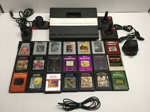 ATARI 7800 Pro System Console  Expansion Port   21 Games    Tested   Working