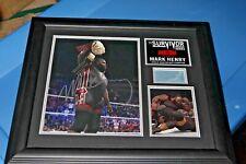 Mark Henry WWE HOF Survivor Series Plaque Signed