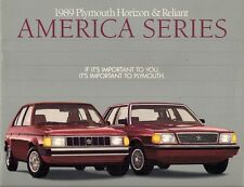 Plymouth Horizon America & Reliant America 1989 USA Market Sales Brochure
