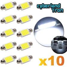 10X White COB LED Map Dome Interior Light Bulb 42MM Festoon 211-2 212-2 578 Tool