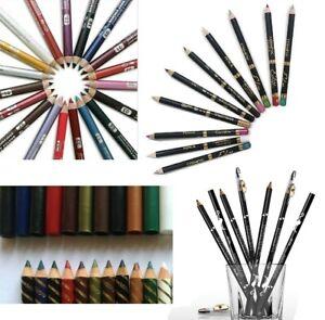 2in1Soft Waterproof Eye&Lip Liner Pencils ~ 49 shades| # with sharpener