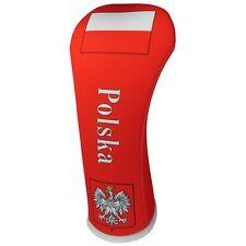 POLISH FLAG HYBRID Golf Club Head Cover Cover Easy ON & Off USA MADE