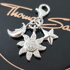 Thomas Sabo ❤ sol luna estrella charm club pulsera cadena colgante 925 plata nuevo