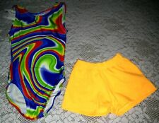 Nwt Lot of 2 Gymnastics dance leotard shorts summer swim Size Child 3-5