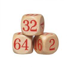 3 x Dopplerwürfel - Wood - Backgammon - Accessories
