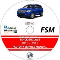 Buick Enclave 2013 2014 2015 2016 2017 Service Repair Manual on CD