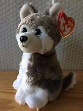 Ty Beanie Baby Babies Sledder the Husky 2011 Version Small Eyes MWMT