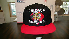 CHICAGO BLACKHAWKS CCM EMBROIDERED CAP, OFFICIAL NHL, SNAP BACK, NWT.
