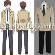 Angel Beats! SSS School Boy Uniform Japanese Anime Cosplay costume
