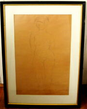Original Female Nude Drawing by Eugenie Gershoy, Signed, Fine Art