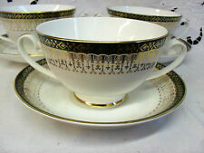 Royal Grafton MAJESTIC GREEN Soup Coupe & Saucer up to 7 available