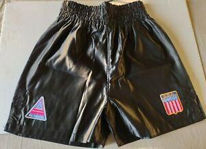 Iron Mike Tyson Replica Black Boxing Shorts Size XL by TopBoxer USA FREE SHIP
