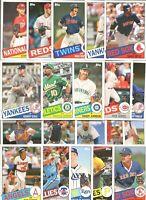 2020 Topps Series 1& 2 1985 Topps Insert 20 Card Lot Acuna,Pujols,Koufax,Ortiz