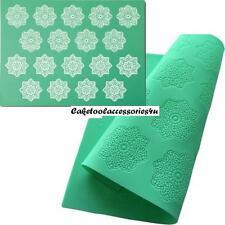 GRANDE pizzo fiocco di neve Cottura Opaco Fondente Stampo in silicone per Cupcake Decorazione Torte