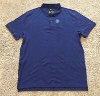 NWT Men's Navy Blue Short Sleeve Member's Mark Cotton Polo Classic Fit Medium