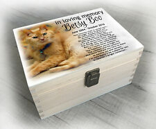 Cat feline or any small pet, urn / memory box for cremation ashes, any design