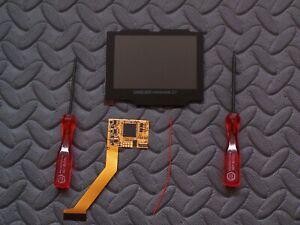 10 Levels of Brightness GBA SP V2 IPS LCD Mod Kit Backlight Game Boy Advance SP
