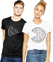 Pizza Matching T Shirt Couple Valentines Gift Girlfriend Boyfriend Couple Wifey