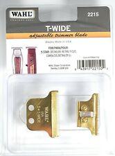 🏆REAL 24K GOLD PLATED Wahl T-Wide Detailer Blade Set #02215 🏆