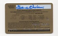 Jeane Dixon - Predicted Death of John F. Kennedy - Signed TWA Card