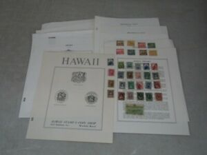 Nystamps E Old US Possessions Hawaii stamp collection