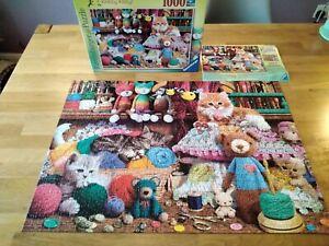 Ravensburger Knitty Kitty - Cat 1000pc Jigsaw Puzzle