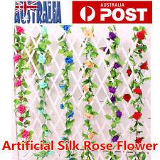 2.4m Artificial Silk Rose Flower Ivy Vine Leaf Garland Wedding Party Decor OZ