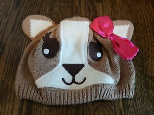 Gymboree Stylish Corgi Knit Winter Hat Puppy Dog with Bow 12-24 months