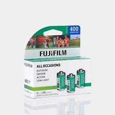 Fujifilm 400 35mm Color Film 36 Exposures - 3 Rolls