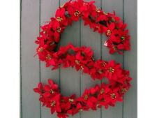 Artificial 6ft Red Poinsettia Garland