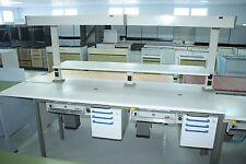 KaVo 2er Arbeitstisch / Labortisch / Arbeitsblock + Beleuchtung + Bord # 9265