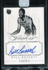 2012/13 Panini Flawless Bill Russell Auto Autograph On Card Encased #ed 13/20