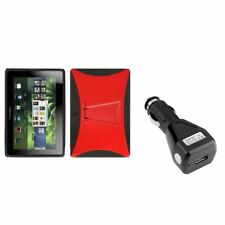 Red/Black Stand Case For BLACKBERRY Playbook Tablet+USB Car Charger Adapter